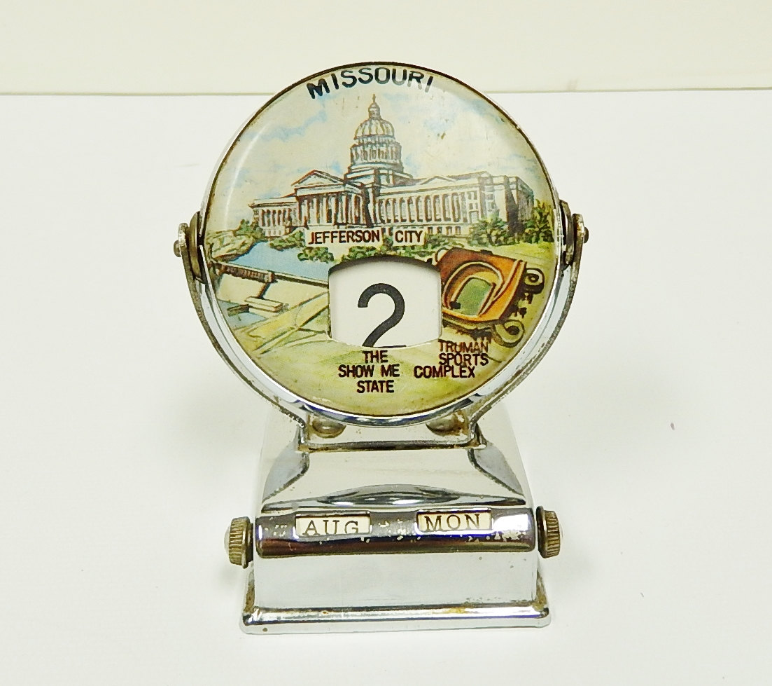 Perpetual Calendar Vintage : Flip calendar missouri vintage perpetual