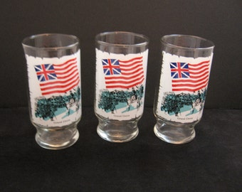 Early Flags of our Nation - Grand Union - 1973 Anchor Hocking Drinking Tumblers