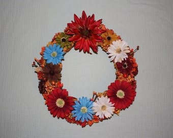 "12"" Bright-colored Autumn Wreath"