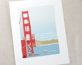 Golden Gate Bridge Print // Art Print // San Francisco Art // Wall Decor