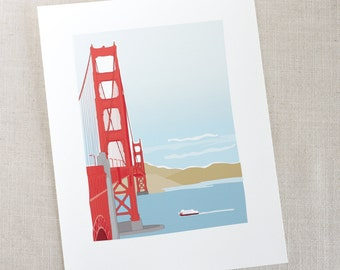 Golden Gate Bridge Print / Art Print / San Francisco Art / Wall Decor