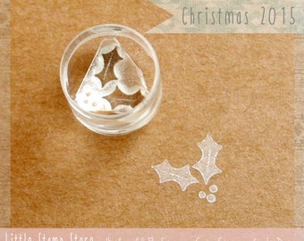 Tiny Holly Crystal-Clear Stamp by Little Stamp Store