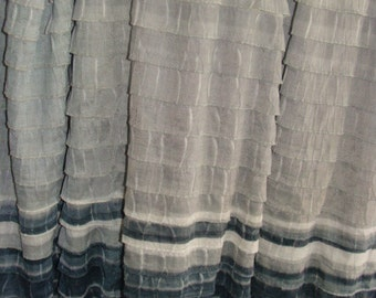Black, Gray and White  Ruffle Fabric bty