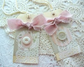 Gift Tags - Shabby Lace, Buttons, Victorian Inspired by Heidi & Honigbiene