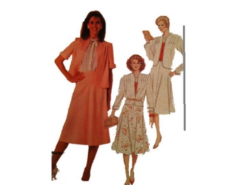 Uncut McCall's 9506, Jacket and Skirt, Size 24, Plus Size, Easy, 1980s Vintage Fashion Sewing Pattern