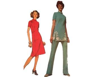 Dress, Tunic, Pants, Size 10, Bust 32 1/2, Waist 24, Simplicity 9607
