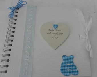 Personalised Baby Christening/Birth guest book/scrapbook/photo album handcrafted