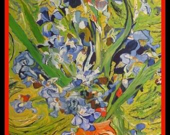 ORIGINAL Oil Painting: Iris.