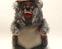 Big Al Country Jamboree Bear Plush Rubber face 17 Inch Tall Vintage 1980s