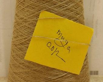 Muga Spun Silk yarn 20/2 combed undyed 500 gram on cones.