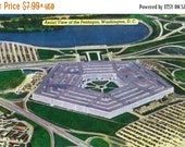 15% OFF SALE Washington DC - Aerial View of the Pentagon Building (Art Prints available in multiple sizes)