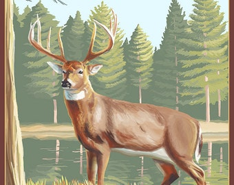 Alabama White Tailed Deer (Art Prints available in multiple sizes)