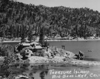 Big Bear Lake, CA View of Treasure Island Photograph (Art Prints available in multiple sizes)