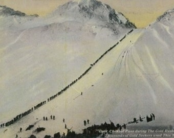 Over Chilkoot Pass During Gold Rush, Alaska (Art Prints available in multiple sizes)