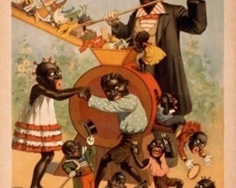 Thatcher's Minstrels Black Children Being Made Poster (Art Prints available in multiple sizes)