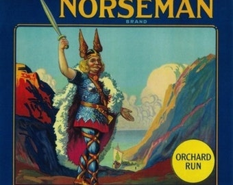 Norseman Orange Label (Art Prints available in multiple sizes)