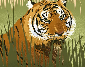 Sumatran Tiger - Lithograph Series (Art Prints available in multiple sizes)