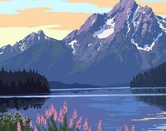Grand Teton National Park - Jackson Lake (Art Prints available in multiple sizes)