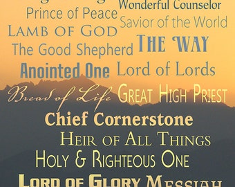 Names of God - Inspirational (Art Prints available in multiple sizes)