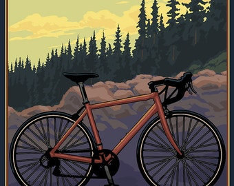 Mountain Bike (trail) - Oregon (Art Prints available in multiple sizes)