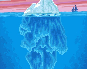 Iceberg Cross-Section - Ketchikan, Alaska (Art Prints available in multiple sizes)