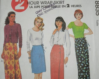 McCalls 8835, Sizes 10-12-14, misses, womens, teens, skirt, UNCUT sewing pattern, craft supplies