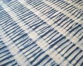 Shibori Fabric, Hand Dyed Indigo Fat Quarter