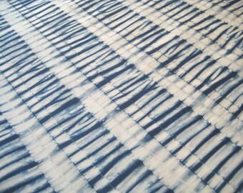 Shibori Indigo Fabric, Hand Dyed Fabric,