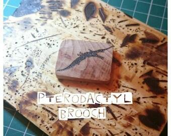 Pterodactyl Brooch, Dinosaur Brooch