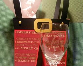 Matching monogrammed wine glasses