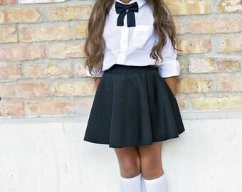 Black girls bow tie, Girls bow tie - toddler bow tie - baby bow tie -