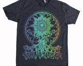 Men's Psychedelic SEER Mandala Eye Tee Sacred Geometry Hand Screen Printed T-Shirt