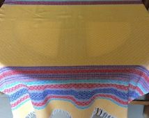 Mexican tablecloth - yellow