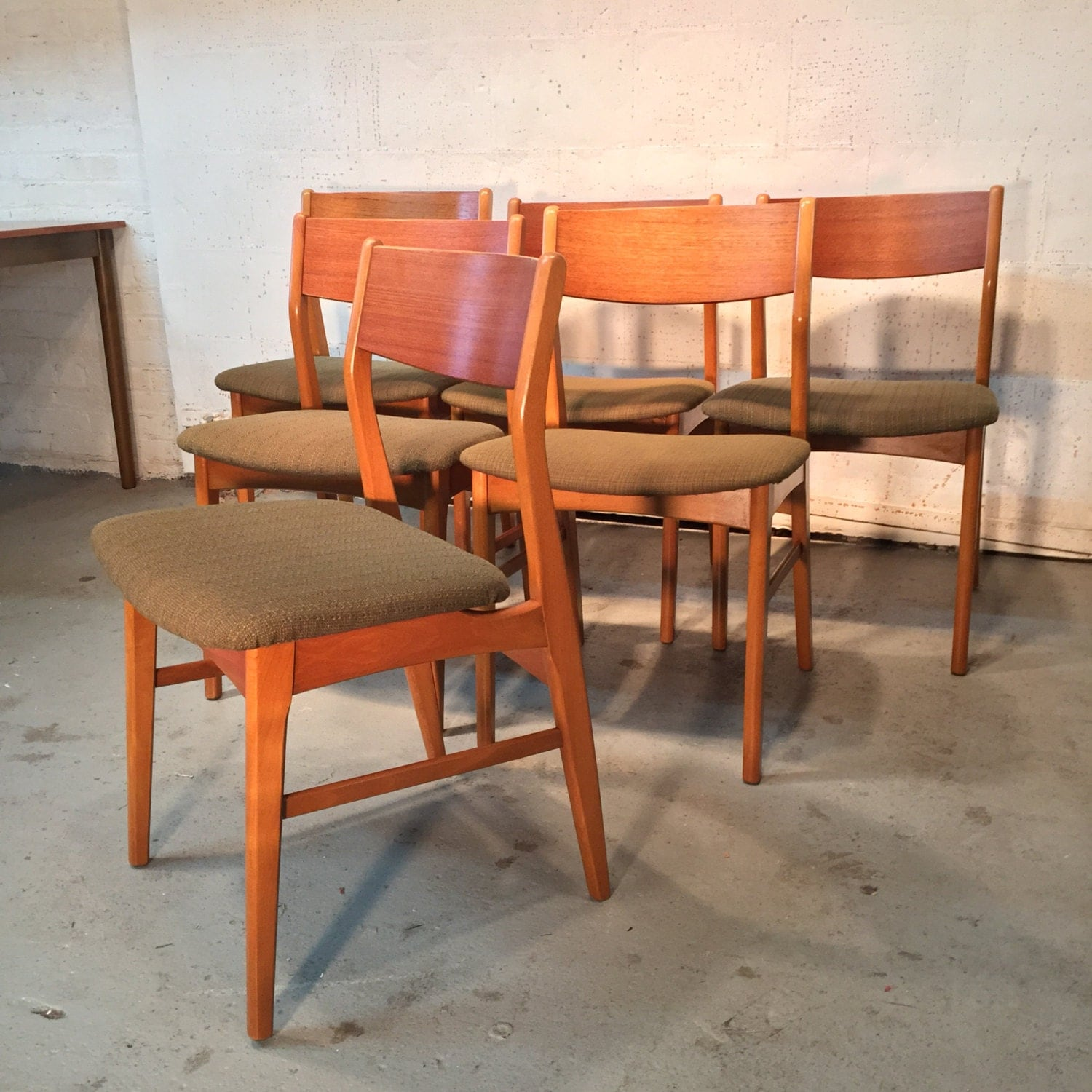 Set Of 6 Danish Mid Century Modern Dining Chairs 1 100 OBO Free NYC Deliv