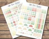 Summer Chic Palette Sticker Kit PDF + JPG PRINTABLE Planner Stickers-Instant Download