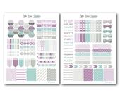 Aurora Palette Sticker Kit #0815 PDF + JPG PRINTABLE Planner Stickers-Instant Download
