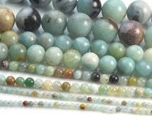 amazonite gemstone beads - amazonite beads wholesale - amazonite beads -semi precious gemstone beads - round beads - 4-16mm -15inch
