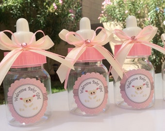 12 Little sheep baby shower-sheep baby shower favors- pink and gray baby shower- baby shower favors-sheep baby shower- girl baby shower