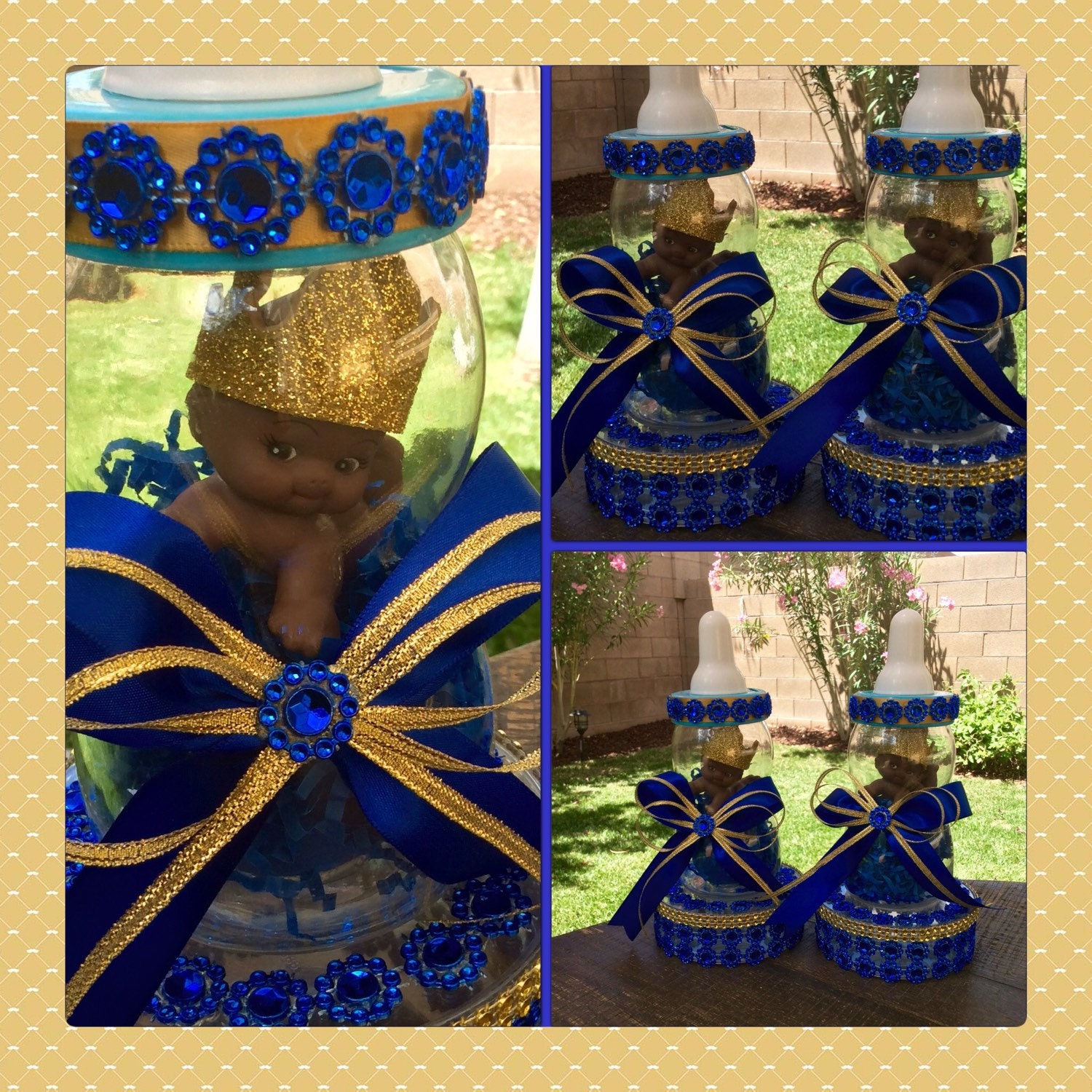 one royal blue prince baby shower centerpiece little prince
