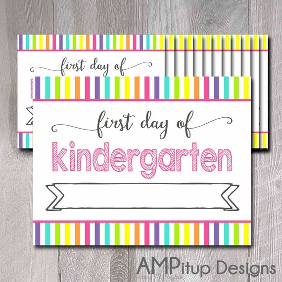 Items similar to first day of school printable signs for First day of school sign template