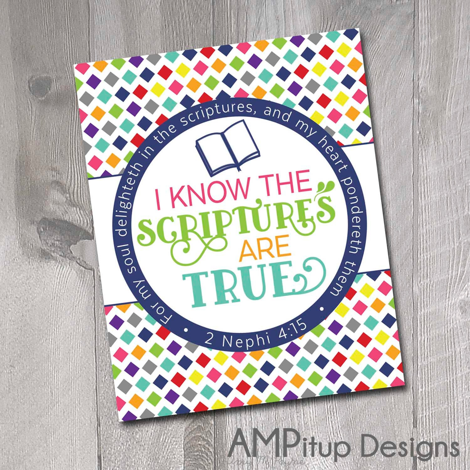 2016 LDS Primary Theme Poster Printable I Know by AMPitupdesigns