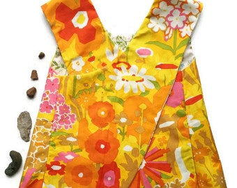 Flower Hour Pinafore Tunic Top // ~ Made to Order ~ NB to 24 month