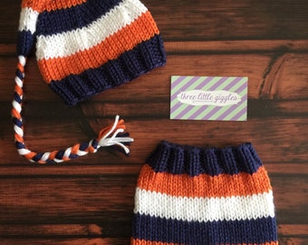 Lewis Striped Sleepy Cap Set - Options to purchase separately as hat and/or pants or shorts