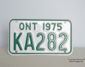 1975 Ontario Motorcycle Licence Plate