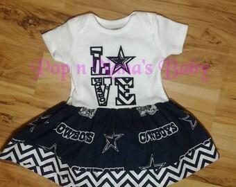 Dallas Cowboy Fabric Bodysuit Dress