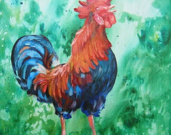 Picture The Golden Cockerel - Acrylic And Oil Paintings, Home Decor,Office Decor,
