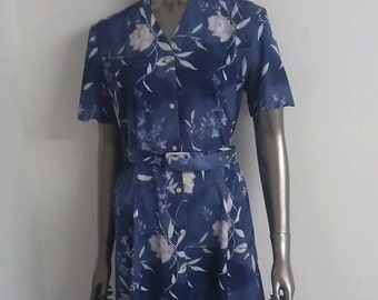 Vintage 1970s Floral Tea Dress - Great Condition - Only 10 Pounds!