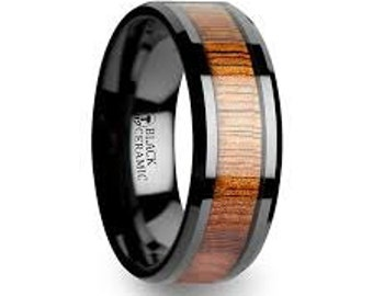 mens ringunique mens ringsblack mens ringwood ringblack ceramic - Ceramic Wedding Rings