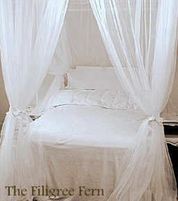 Queen size build your own bed canopy four by thefiligreefern for Build your own canopy bed