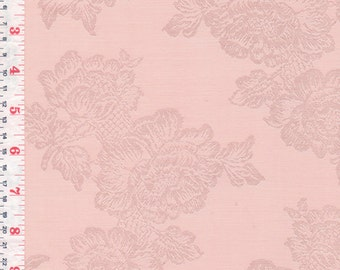 Coral Jacquard , Synthetic  2 1/2 Yards Available - by the Piece